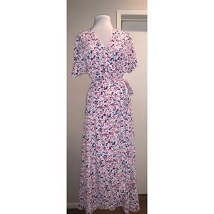 Bobeau Floral Maxi Wrap Dress